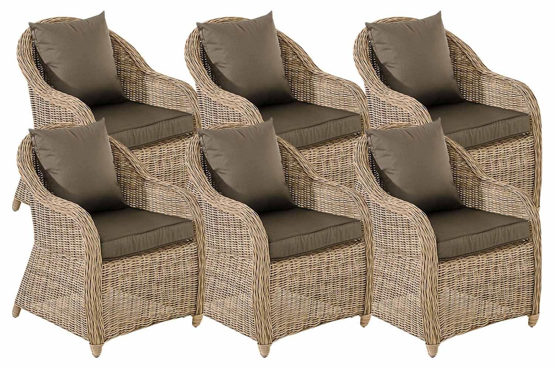 Set van 6 fauteuils van Stavanger