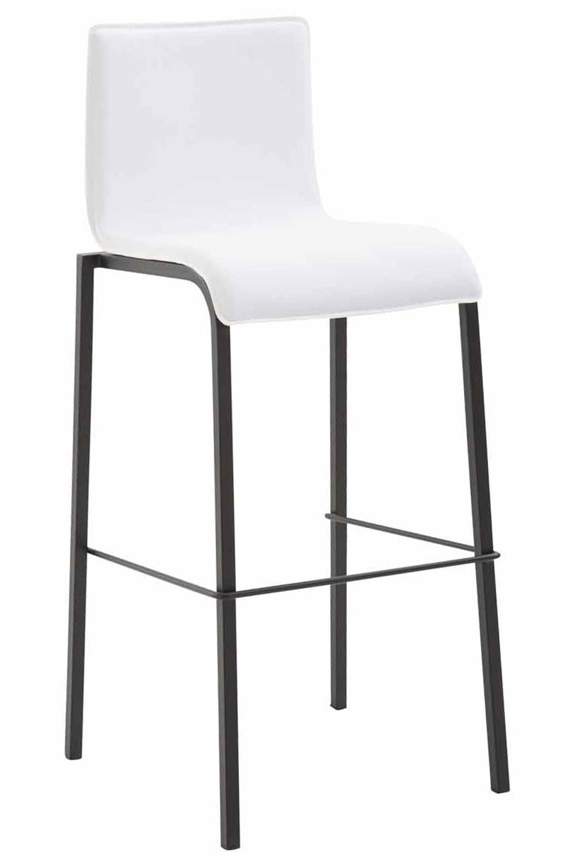 Kado - barkruk - vlakke kunstleer zitting - vierkante benen