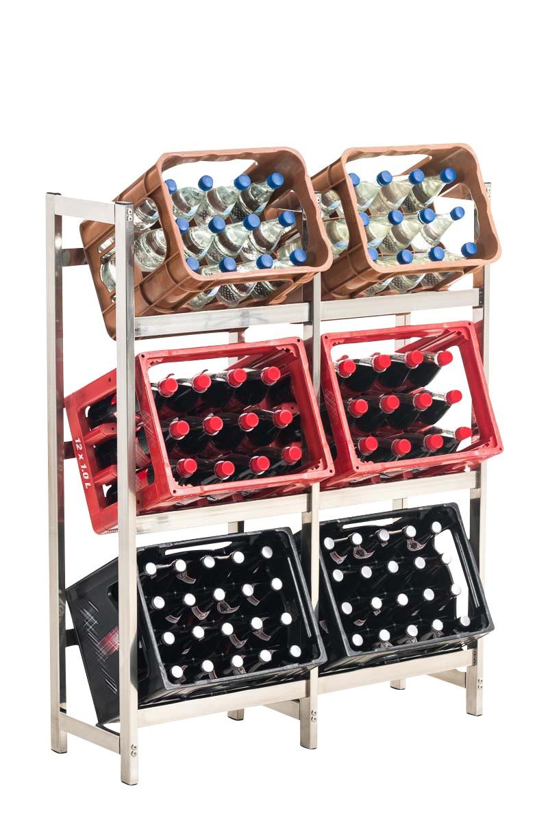 Getränkekistenständer Stack Edelstahl