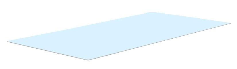Glazen blad tuintafel 90x49 cm