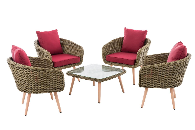 Lounge set Ameland 5 mm Rond Polyrotan zithoogte 45 cm
