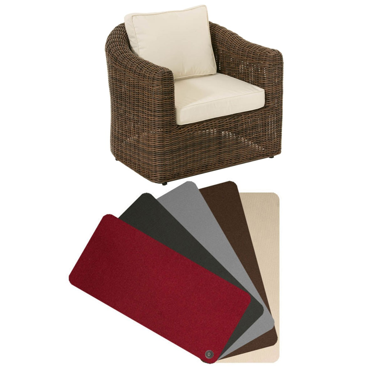 Kussenhoes fauteuil Bergen
