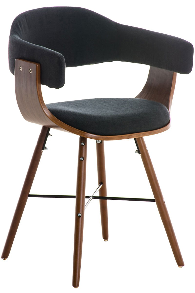 Bezoekersstoel Barrie V2 stof walnoot
