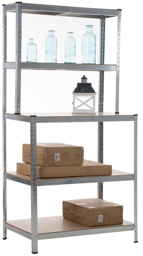 Heavy-duty rack met werkbank