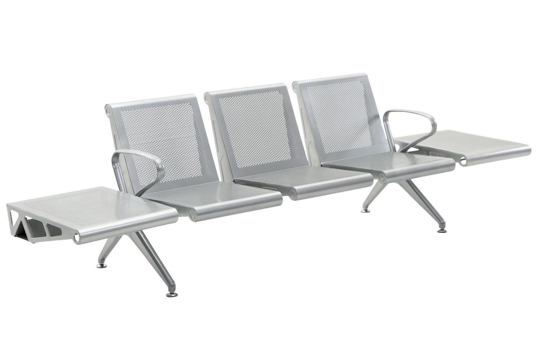 3 persoons terminal wachtbank met tafels