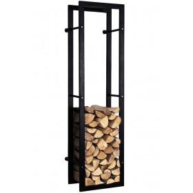 Brandhoutrek Keri-wand zwart mat